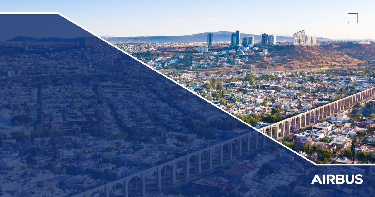 Fotografía panorámica de la ciudad de Querétaro